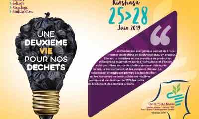 RDC: Kinshasa abrite le Forum sur la gestion intégrée des déchets du 25 au 28 juin 2019 1