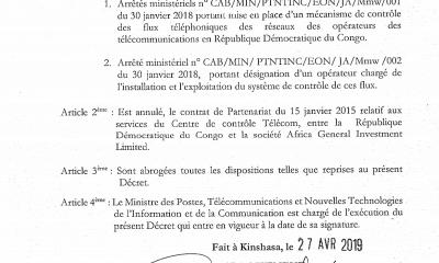 RDC : Tshibala annule le contrat «léonin» AGI sur le contrôle des flux téléphoniques ! 22