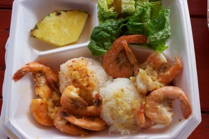 Fumi's combination of spicy and garlic-and-butter shrimp