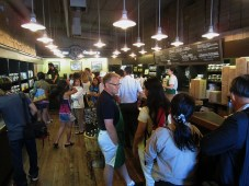 Inside the original Starbucks store