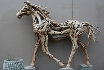 Driftwood sculpture at Good