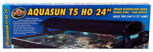 Aquasun T5 Ho Double Light Linear Fluorescent Hoods Zoo