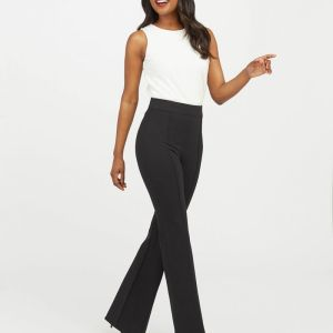 Spanx Hi-Rise Flare The Perfect Black Pant Zoomer Zones 1