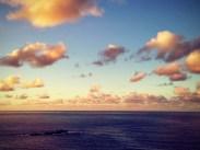 Clouds illumated