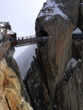 Bridge atop Aiguelle du Midi