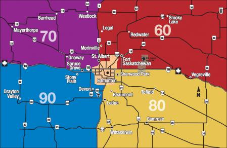 Edmonton Rural MLS Zone Map