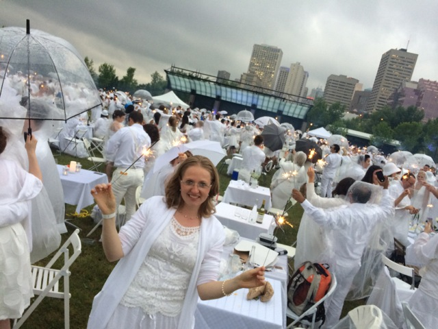 Diner en Blanc Kelly-Dawn with Sparklers Edmonton