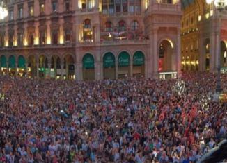concerto in piazza Duoimo a Milano
