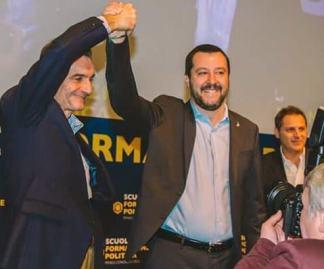 Attilio Fontana e Matteo Salvini