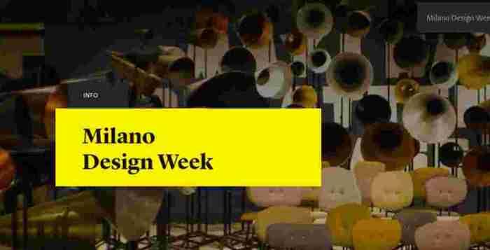 Design Week fuori Salone Milano