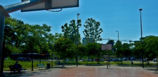 campo da basket di strada