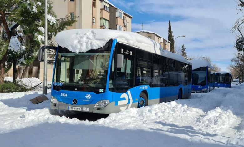 los-autobuses-de-la-emt-retoman-sus-rutas-tras-filomena:-estas-son-las-28-lineas-que-funcionaran-este-martes