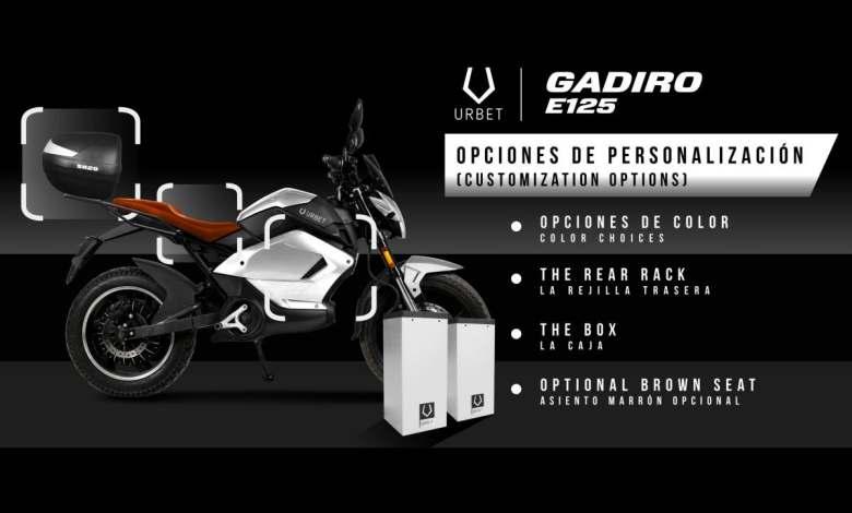 la-urbet-gadiro-e125-electrica-anade-nuevas-opciones-de-personalizacion-a-su-catalogo