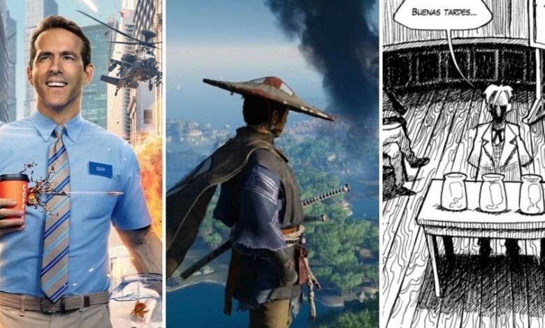 13-estrenos-y-lanzamientos-imprescindibles-para-el-fin-de-semana:-'free-guy',-'ghost-of-tsushima-director's-cut',-lovecraft-y-mucho-mas