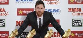 ميسي يتوج بجائزة الحذاء الذهبي للمرة السادسة في تاريخه