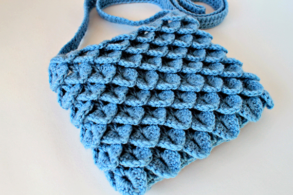 Crochet Crocodile Stitch Bag