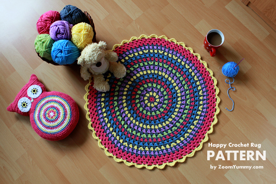 Happy Crochet Rug