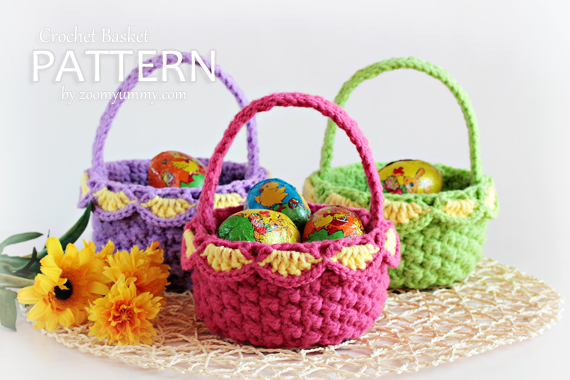 Small Crochet Baskets