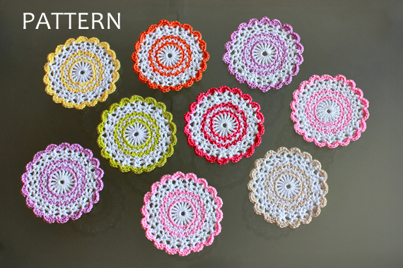 Sweet Crochet Coasters