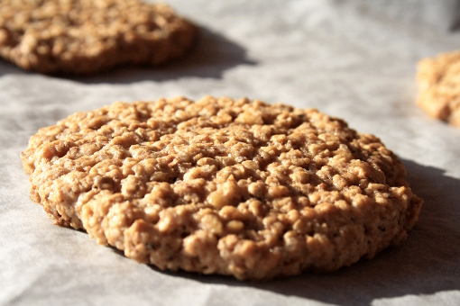 crispy-oatmeal-cookies-out-of-oven