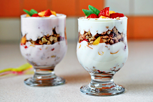 fruit yogurt parfaits recipe with step by step pictures, parfaits recipe, yogurt parfaits, creamy parfaits, pictures, ingredients, images