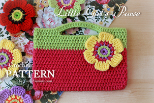 crochet pattern little girl's first purse