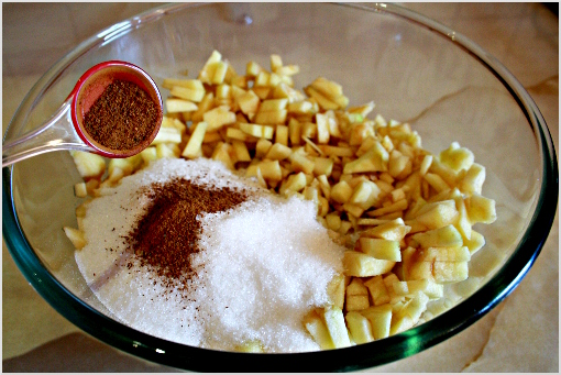 mini apple pies recipe with step by step pictures, ingredients, Thanksgiving pies, Thanksgiving recipe, Holiday recipes, Add the sugar (1/2 cup - 100 grams), lemon juice, salt (1/4 teaspoon), cornstarch (some of you may know this as corn flour) and the wonderful, fragrant, heavenly cinnamon