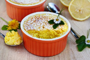 lemon delight recipe with step by step pictures, lemon souffle, lemon pudding, ingredients for lemon dessert, pictures, images