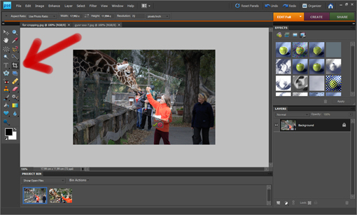how to crop and rotate an image in photoshop tutorial