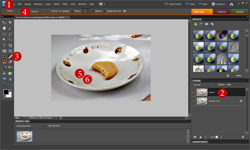how to remove and clean crumbs, blemishes, and irregularities from pictures with Photoshop tutorial