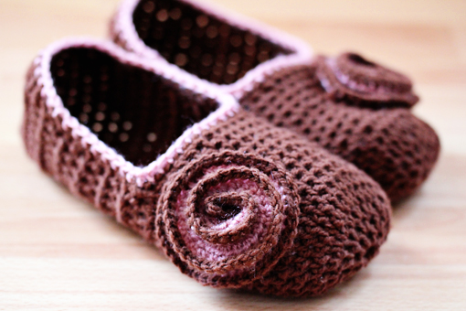Brown Slippers Crochet Zoom Yummy Crochet Food Photography
