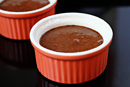 molten lava cakes recipe with step by step picture tutorial, place the ramekins on a baking sheet
