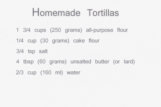 homemade tortillas recipe with step by step picture instructions, ingredients