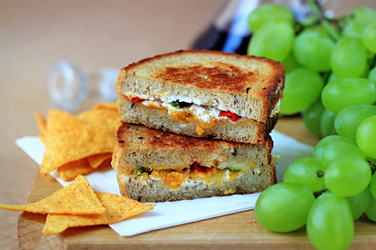 crispy chili pepper grilled cheese sandwich recipe with step by step pictures