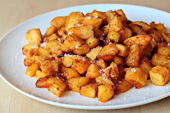 Parmesan roasted potatoes recipe with step by step photos