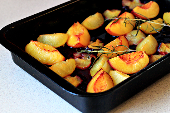 roasted summer fruit with rosemary and cream recipe with step by step pictures, roast until for tender