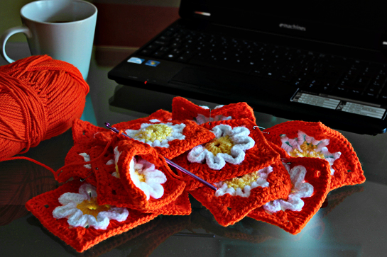 crochet purse pattern pdf etsy orange flower