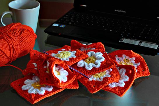 crochet purse pattern pdf etsy orange flower