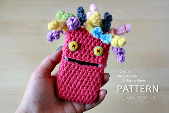 crochet-pattern-hairy-monster-cell-phone-cover