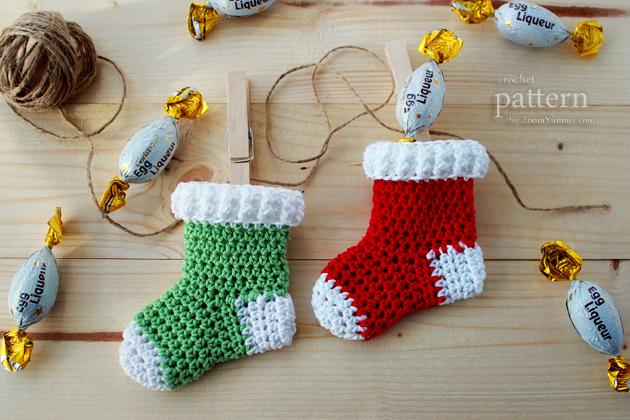 New Pattern Crochet Christmas Stocking Ornaments Crochet Zoom