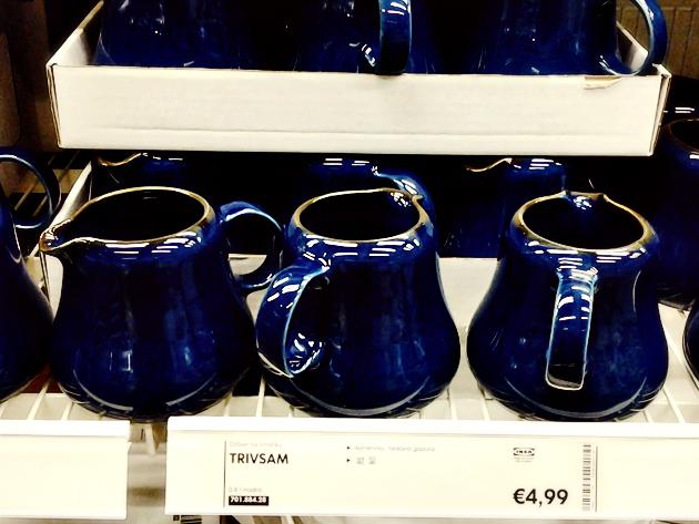 ikea blue jugs