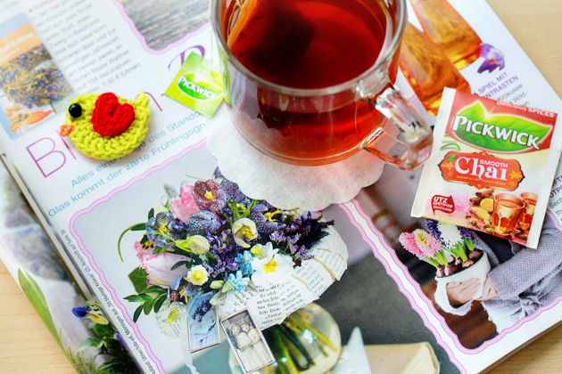 colors, flower, new tea and a little fight with flu