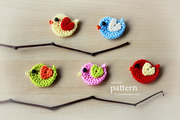New Pattern A Little Crochet Bird Sitting On A Wreath Ornament