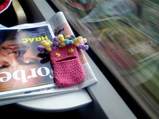 crochet monster cell phone cover