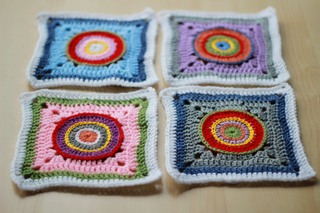 new granny square with circles in center