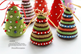Little Colorful Christmas Trees Crochet Pattern