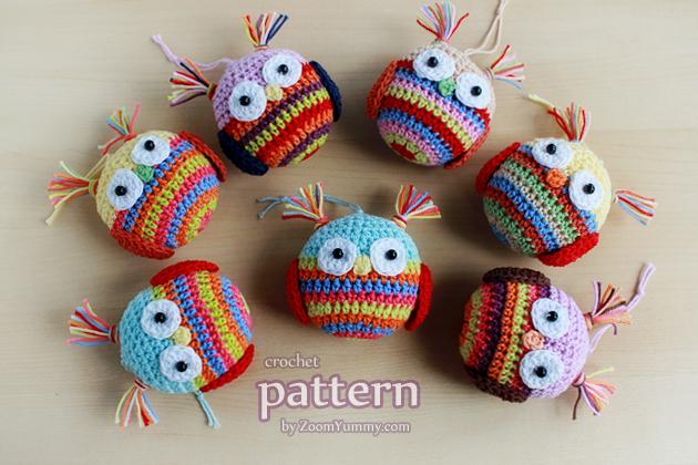 crochet pattern - Christmas ball - owl