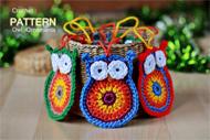 Crochet Owl Ornaments
