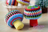 Happy Crochet Mushroom Ornaments