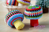 Happy Crochet Mushroom Ornaments